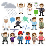 Cartoon Cool and Business People Vector Illustration Royalty Free Stock Photography