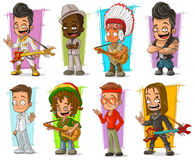 Cartoon cool funny different characters vector set Stock Photography