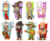 Cartoon cool funny different characters vector set Stock Photos
