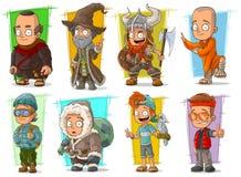Cartoon cool funny different characters vector set. Cartoon cool funny different characters big vector set. Vol 2 vector illustration