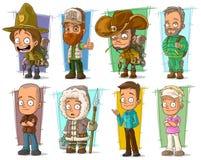 Cartoon cool funny different characters vector set. Cartoon cool funny different characters big vector set. Vol 8 vector illustration