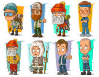Cartoon cool funny different characters vector set Stock Photo