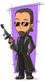 Cartoon cool killer with gun. A vector illustration of cartoon cool killer with gun Royalty Free Stock Photos
