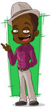 Cartoon cool negro in violet shirt. A vector illustration of cartoon cool negro in violet shirt Royalty Free Stock Photography