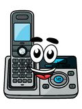 Cartoon cordless phone Stock Photos