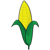 Cartoon corn Stock Photography