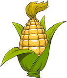 Cartoon corn. Corn on a white background, vector Royalty Free Stock Image