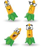 Cartoon corn with emotions,vector Royalty Free Stock Photo