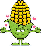 Cartoon Corn Hug Stock Images