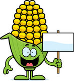 Cartoon Corn Sign Stock Photo