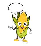 Cartoon Corn With Text Royalty Free Stock Photo
