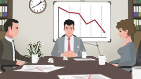 Cartoon Corporate / Failed Business Meeting vector illustration