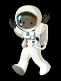 Cartoon cosmonaut - illustation for the children Stock Images