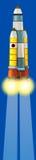Cartoon cosmonaut - illustation for the children Royalty Free Stock Photo