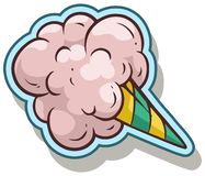 Free Cartoon Cotton Candy Vector Sticker Icon Royalty Free Stock Image - 125253436