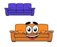 Cartoon couch furniture Stock Photography