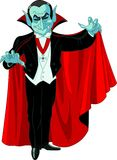 Cartoon Count Dracula. Posing with his swirling cape royalty free illustration