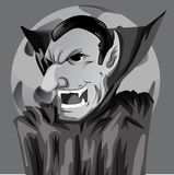 Cartoon Count Dracula Royalty Free Stock Images