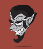 Cartoon Count Dracula. Halloween monster Royalty Free Stock Photo
