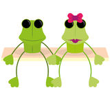 Cartoon Couple Of Cute Characters Isolated Royalty Free Stock Photography