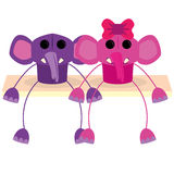 Cartoon Couple Of Cute Characters Isolated Stock Photo