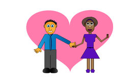 Cartoon couple Stock Images