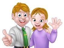 Cartoon Couple Stock Photography