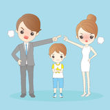 Cartoon couple in a quarrel. Great for your design Stock Image