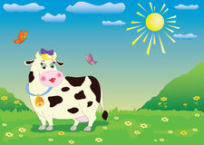 Cartoon cow Stock Image