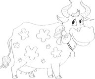 Cartoon cow Royalty Free Stock Photography