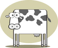Cartoon Cow in Black and White Royalty Free Stock Photos