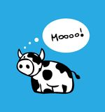 Cartoon cow card, poster design Royalty Free Stock Images