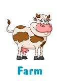 Cartoon cow character Royalty Free Stock Photo
