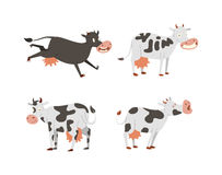 Cartoon cow characters Royalty Free Stock Photos