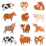 Cartoon cow characters Royalty Free Stock Image