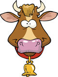 Cartoon cow head Stock Photography