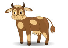 Cartoon cow. Illustration of Cute Cartoon Cow Stock Photos