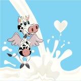Cartoon cow Stock Photography