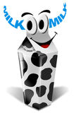 Cartoon Cow Milk Packaging Stock Photos