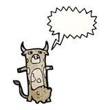 Cartoon cow mooing Stock Photography