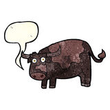 Cartoon cow with speech bubble Royalty Free Stock Photo
