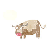 Cartoon cow with thought bubble Stock Photos