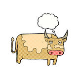 Cartoon cow with thought bubble Stock Photo