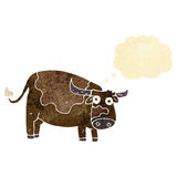Cartoon cow with thought bubble Stock Images