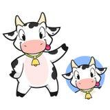 Cartoon Cow. Cartoon vector funny cow for design element Royalty Free Stock Photos