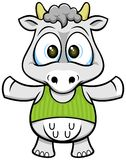 Cartoon cow 02 Stock Images