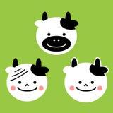 Cartoon cow, vector illustration Stock Photos