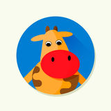 Cartoon cow. Vector illustration of cartoon cow. Character illustration Stock Image