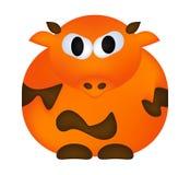 Cartoon cow vector symbol icon design. cute animal illustration  on white background Royalty Free Stock Photo
