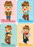 Cartoon cowboy card Royalty Free Stock Photography